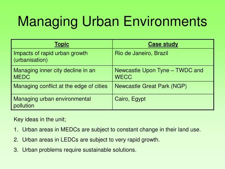Managing Urban Environments