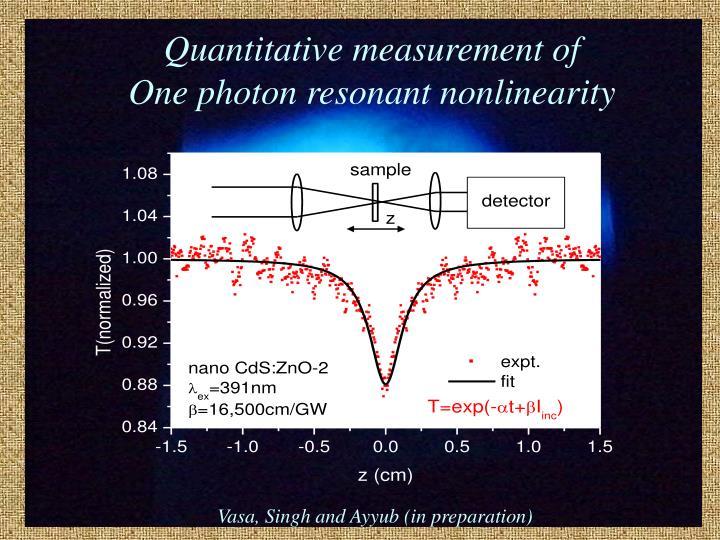 Quantitative measurement of