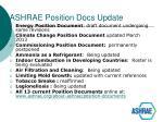 ashrae position docs update