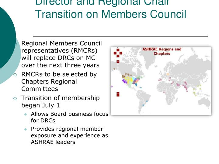 Director and Regional Chair Transition on Members Council