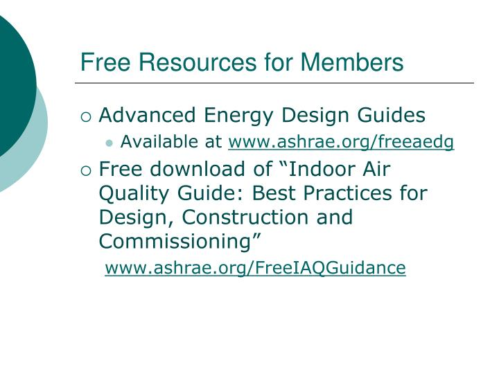 Free Resources for Members
