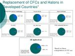replacement of cfcs and halons in developed countries