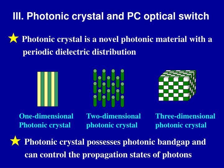 III. Photonic crystal and PC optical switch