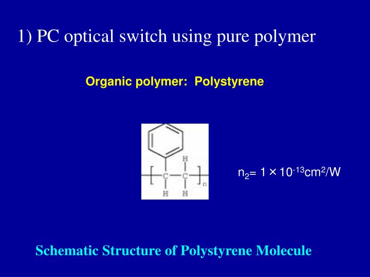 1) PC optical switch using pure polymer