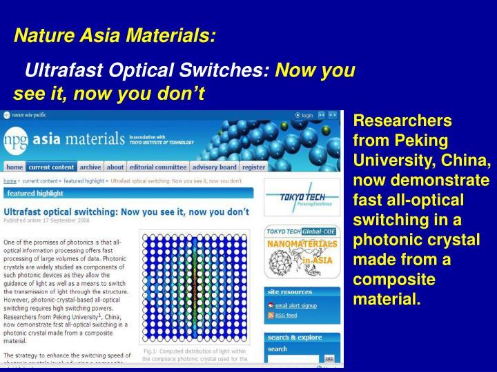Nature Asia Materials: