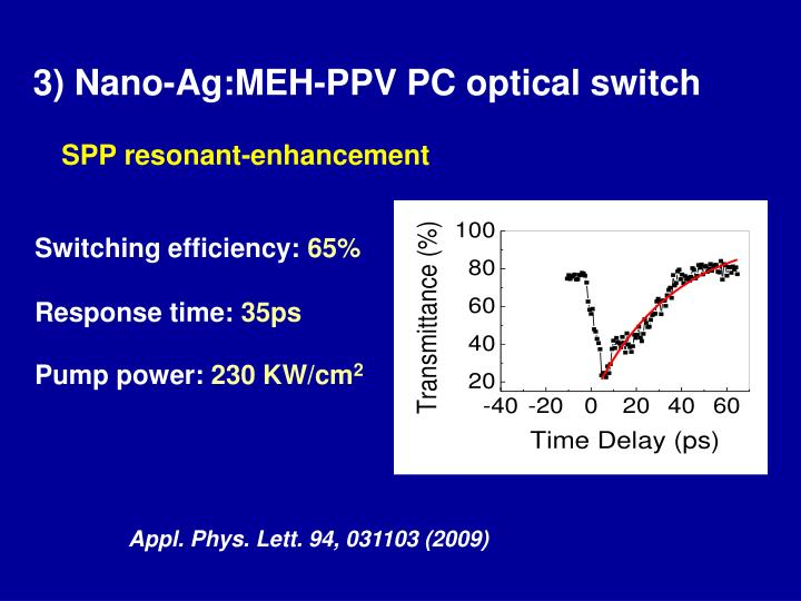 3) Nano-Ag:MEH-PPV PC optical switch