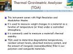 thermal gravimetric analyzer tga