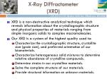 x ray diffractometer xrd