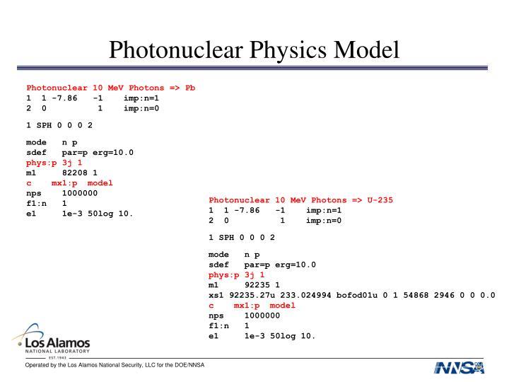 Photonuclear Physics Model