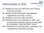 deliverables of sg4