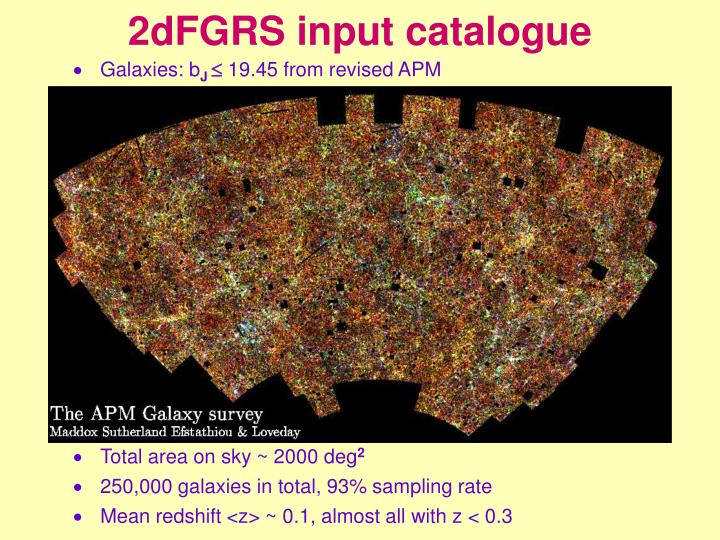 2dFGRS input catalogue