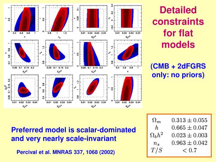 Detailed constraints for flat models