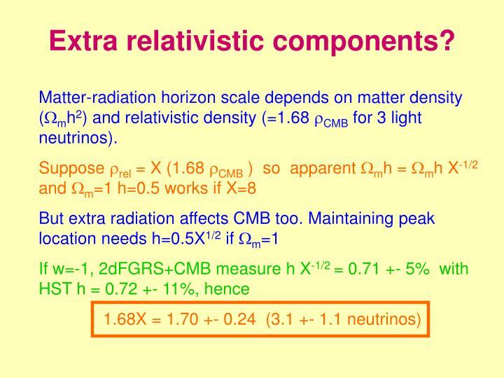 Extra relativistic components?