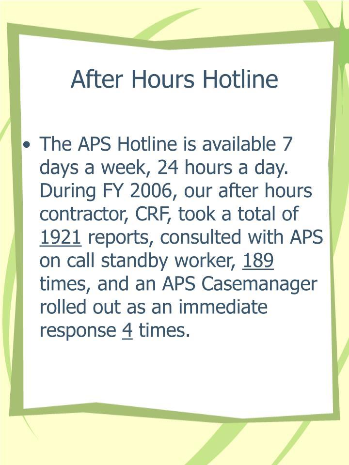 After Hours Hotline