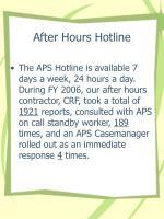 after hours hotline