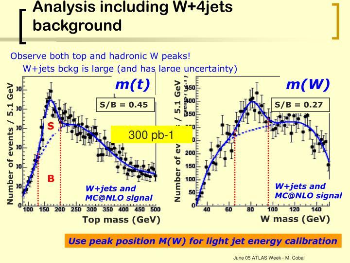 Analysis including W+4jets background