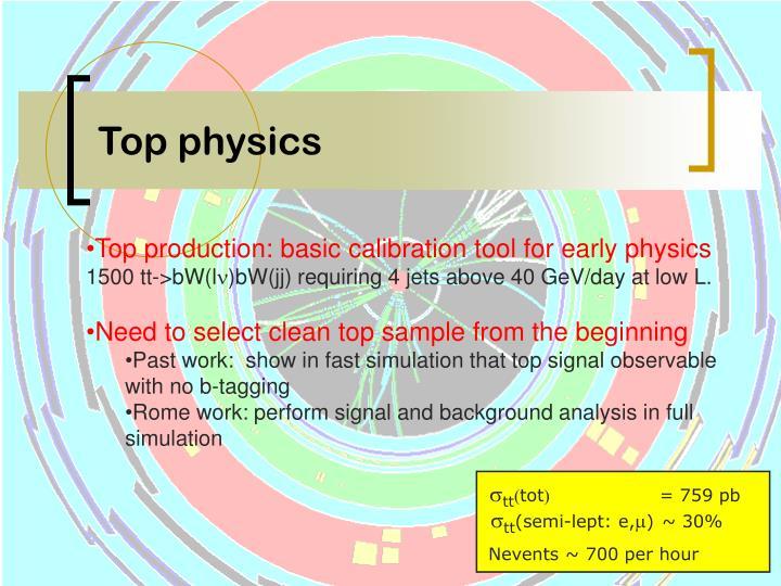 Top physics