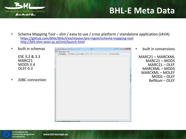 Schema Mapping Tool – slim / easy to use / cross platform / standalone application (JAVA)