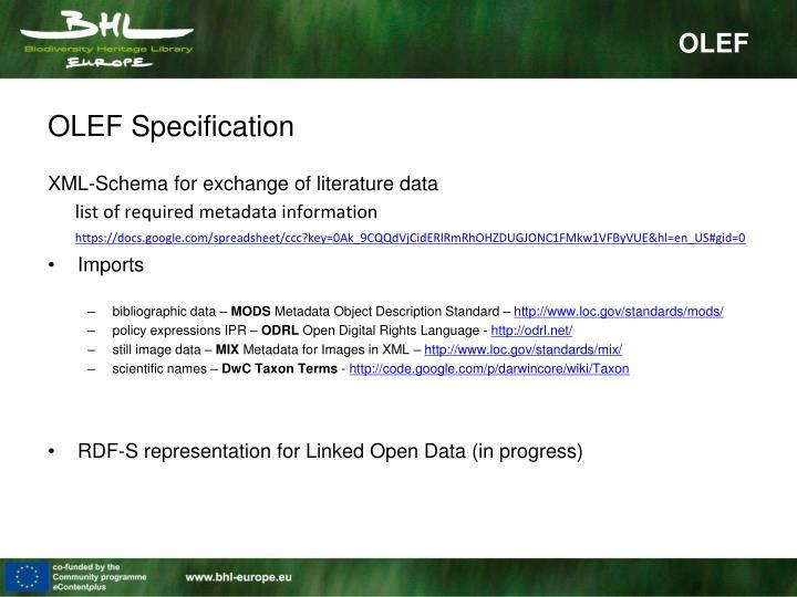 OLEF Specification