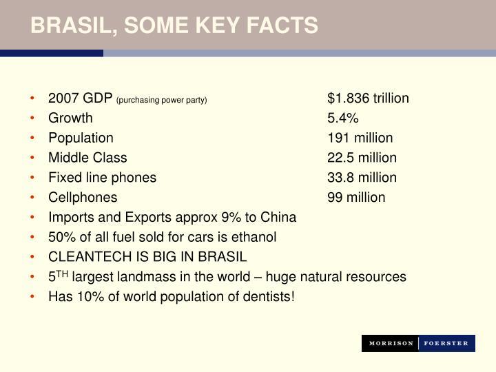 BRASIL, SOME KEY FACTS