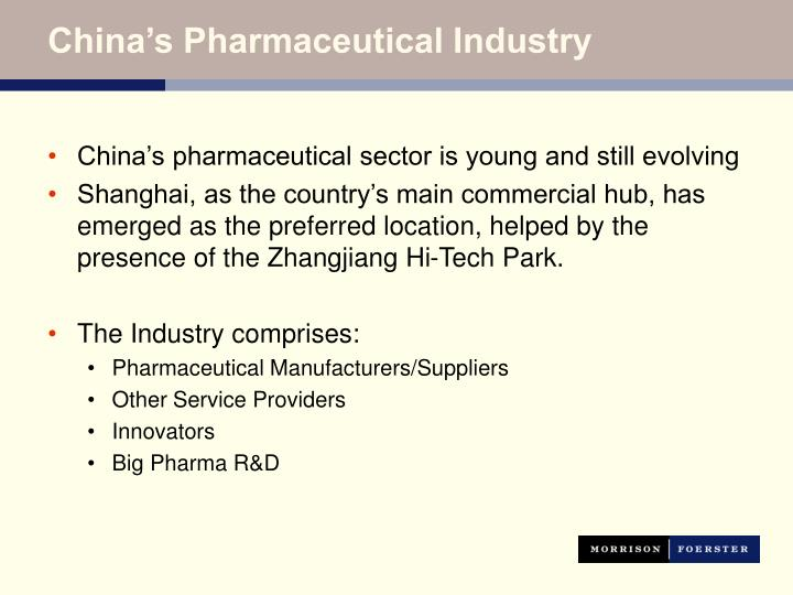 China's Pharmaceutical Industry
