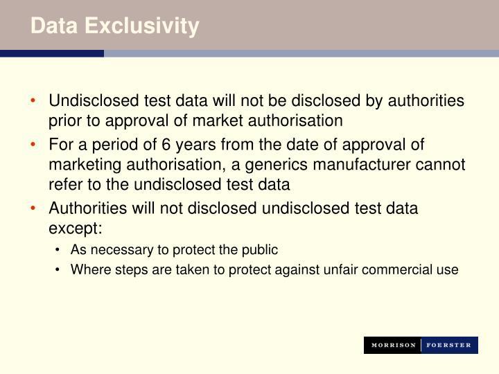 Data Exclusivity