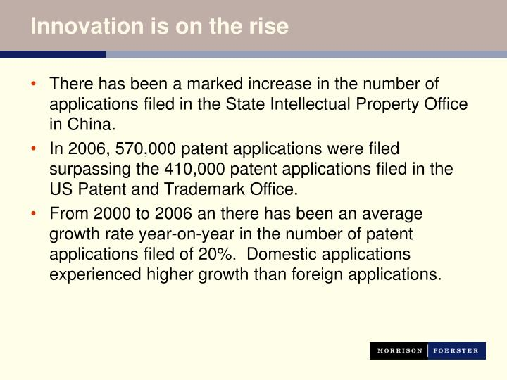 Innovation is on the rise