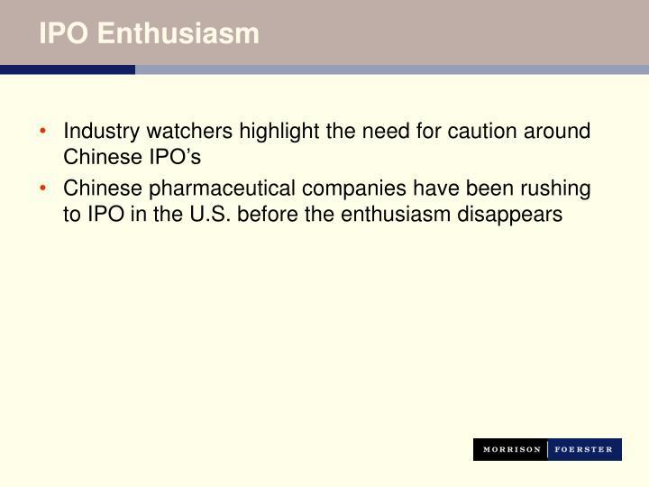IPO Enthusiasm