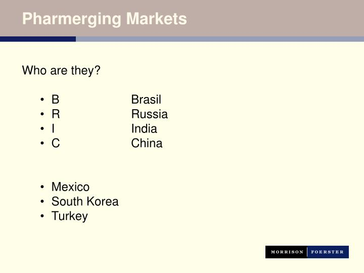 Pharmerging Markets