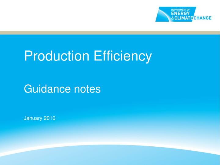 production efficiency