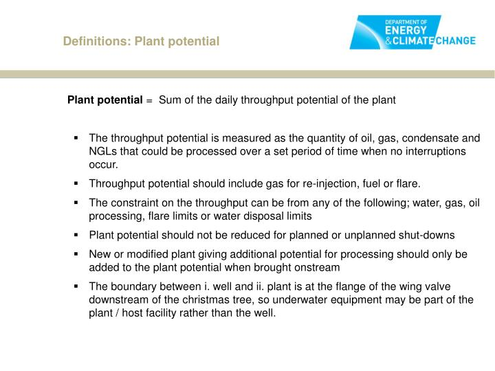 Definitions: Plant potential