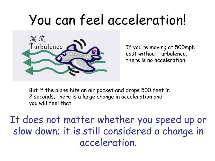 You can feel acceleration!