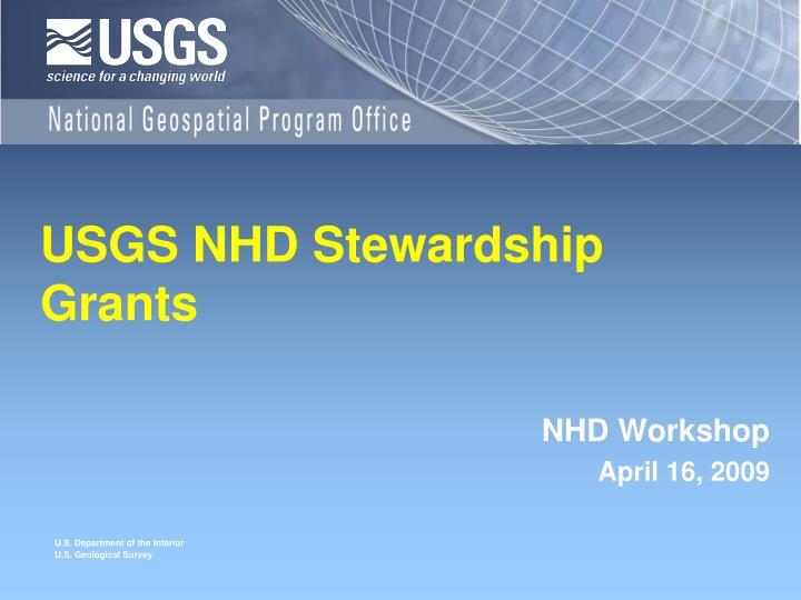 USGS NHD Stewardship Grants