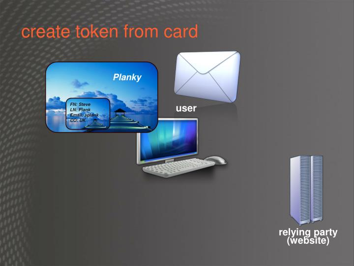 create token from card