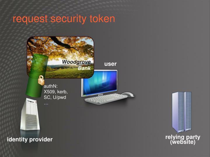 request security token