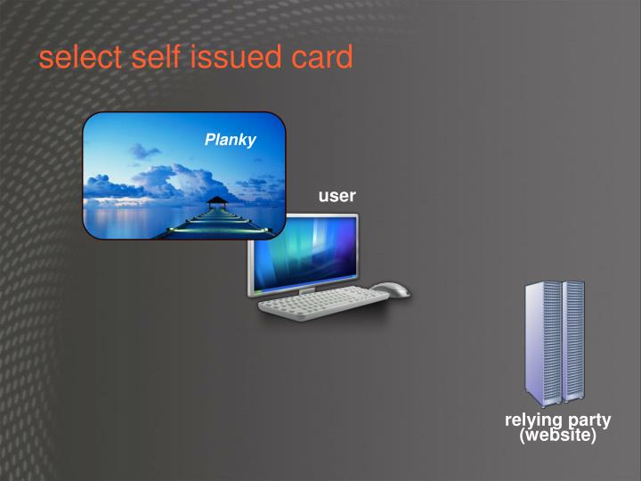 select self issued card