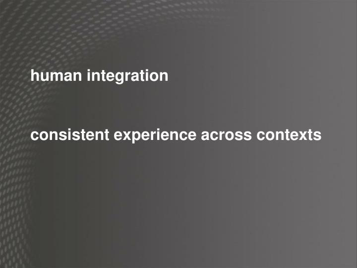 human integration