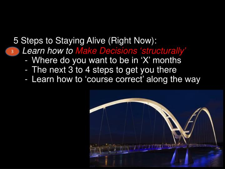 5 Steps to Staying Alive (Right Now):