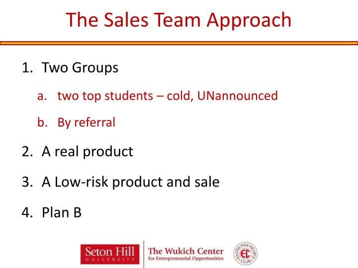 The Sales Team Approach