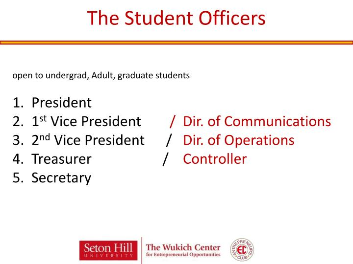 The Student Officers