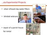 via experiential projects