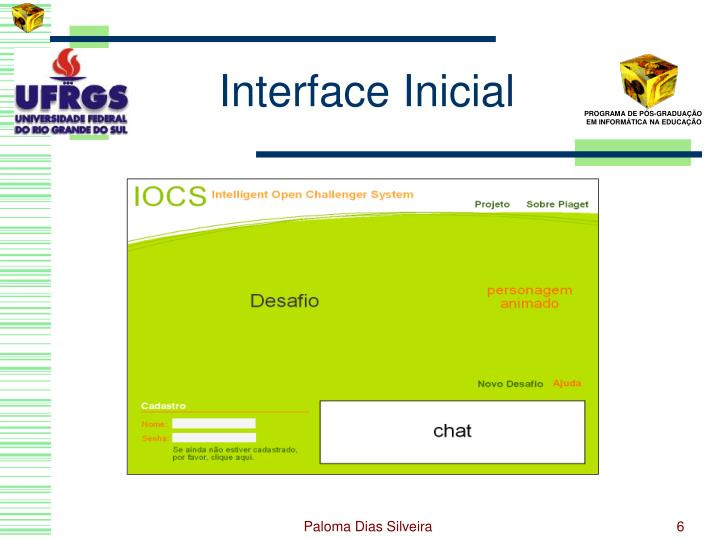 Interface Inicial