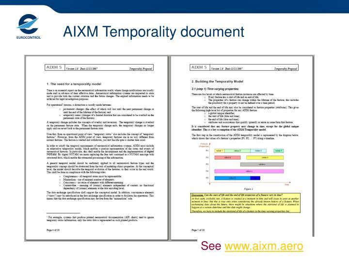 AIXM Temporality document