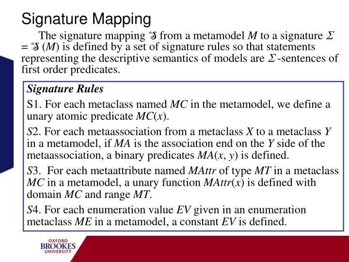 Signature Mapping