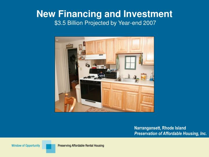 New Financing and Investment