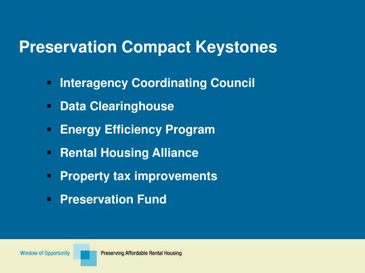 Preservation Compact Keystones