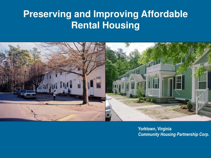 Preserving and Improving Affordable
