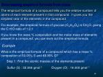 determining empirical formula from mass