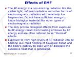 effects of emf