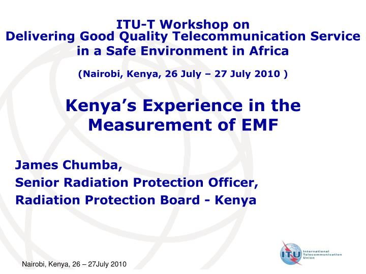 kenya s experience in the measurement of emf